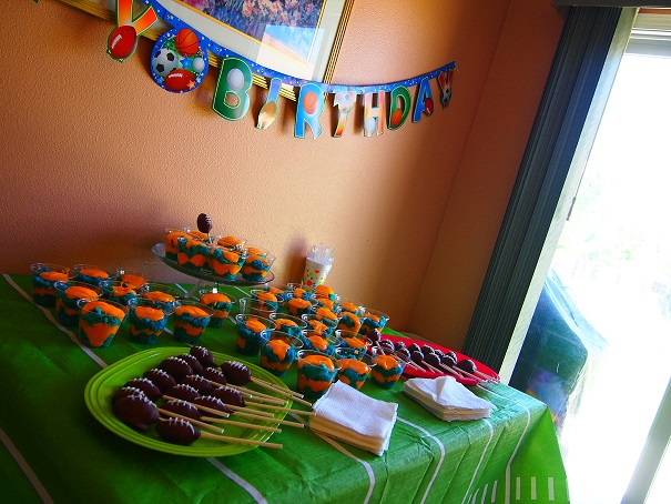 Blue and Orange Trifles were the treats for this party!